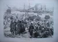 image of Turkish War Preparations: Landing Cavalry at Constantinople.