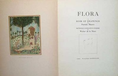 1919. BIANCO, Pamela. BIANCO, Pamela. FLORA: A BOOK OF DRAWINGS. With Illustrative Poems by Walter d...