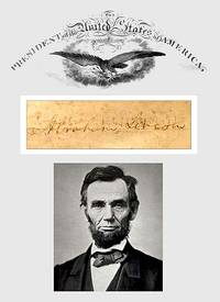 The Assassination of Abraham Lincoln; a collection of presidential material including vellum...
