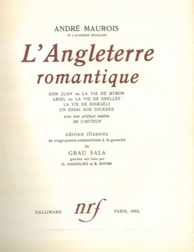 L 39 angleterre romantique avec une preface inedite de l for Auteur romantique