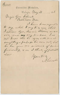 President Lincoln Vouches for a Maryland Unionist Congressman
