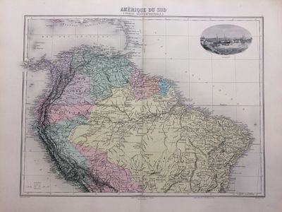 Paris: J. Migeon, 1891. unbound. very good. Map. Engraving with original coloring. Image size 12.25 ...