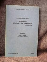 Solutions Manual to accompany Elements of Statistical Inference