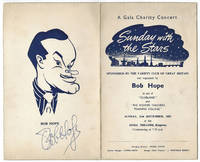Bob Hope Autographed Programme Sunday 21 September 1952