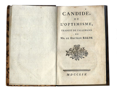 Abaa Candide Ou Loptimisme By Voltaire Franois Marie Arouet