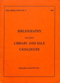 Bulletin 15/1983 (new series): Bibliography Incl. Library and Sale  Catalogues.