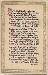 image of German Poetry by A.v. Viebahn on ca. 1925 Swiss Postcard