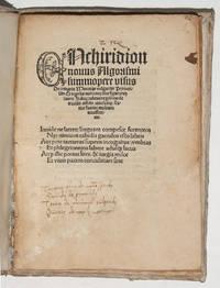 Enchiridion novus Algorismi .
