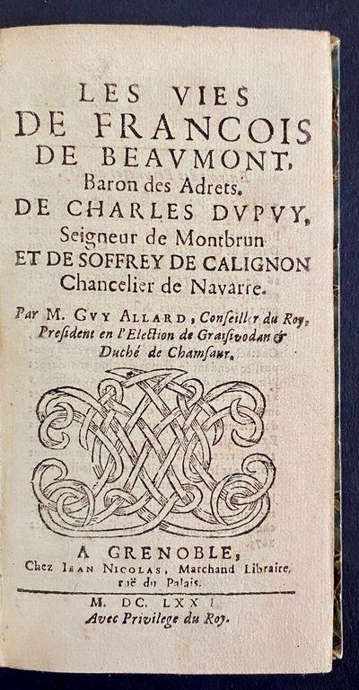 Les Vies De Francois De Beavmont,...