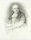 """View Image 1 of 2 for """"William Blake"""": frontispiece portrait ito The Grave. Inventory #123889"""