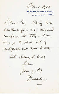 image of AUTOGRAPH LETTER TO A COLLECTOR SIGNED BY SCOTTISH POLITICIAN AND JUDGE ANDREW MURRAY, 1ST VISCOUNT DUNEDIN.