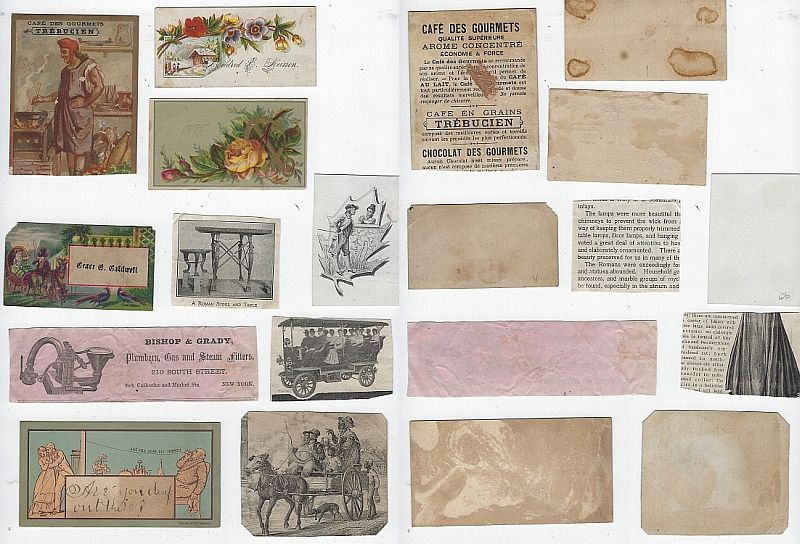 LOT OF TEN SCRAP VICTORIAN TRADE CARDS FEATURING PEOPLE, Advertisement