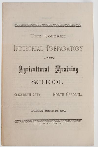 Elizabeth City, North Carolina: Advance Steam Print, 1893. First edition. Bifolium measuring 210 x 1...