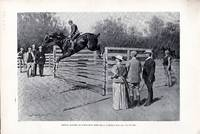 """ENGRAVING: """"Getting Hunters in Horse-show Form"""" ...engraving from Harper's Weekly,..."""