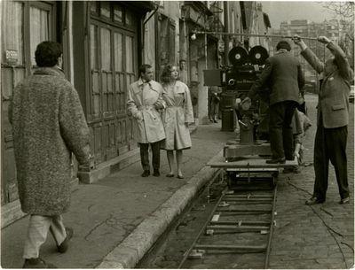 Paris: Les Films de la Pleiade, 1960. Vintage borderless photograph from the 1960 film. A candid, on...