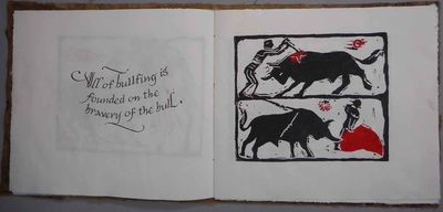 Serafina, NM, 2017. Artist's book, one of 4 copies, on various papers, hand lettered with metal pens...