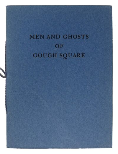 'Oak Knoll', 1930. 1st edition. Blue paper wrappers. Cord tie. Nr Fine.. 24 pp. Frontis of Johnson. ...