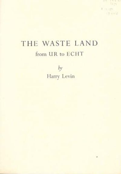 (n.p.), 1972. 1st edition. Wrappers. Nr Fine (covers lightly soiled/small creas at spine).. 25 pp. 7...