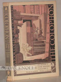New York: The Colophon Ltd, 1935. paper-covered boards. 8vo. paper-covered boards. (vi), 167-315+(1)...