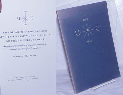 Berkeley: A Centennial Publication of the University of California, 1968. Paperback. Unpaginated pre...