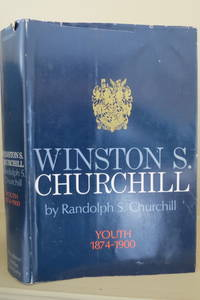 image of WINSTON S. CHURCHILL Youth 1874-1900 (DJ protected by clear, acid-free  mylar cover)