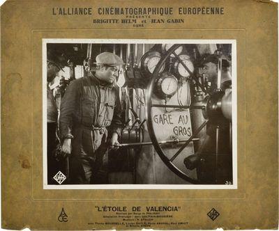 Munich / Paris: UFA / L'Alliance Cinematographique Europeenne, 1933. Two vintage black-and-white sti...