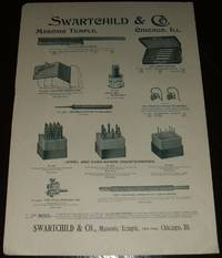 image of Original 1893 Illustrated Advertisement for Jeweler's Tools from  Swartchild Co. Chicago ILL