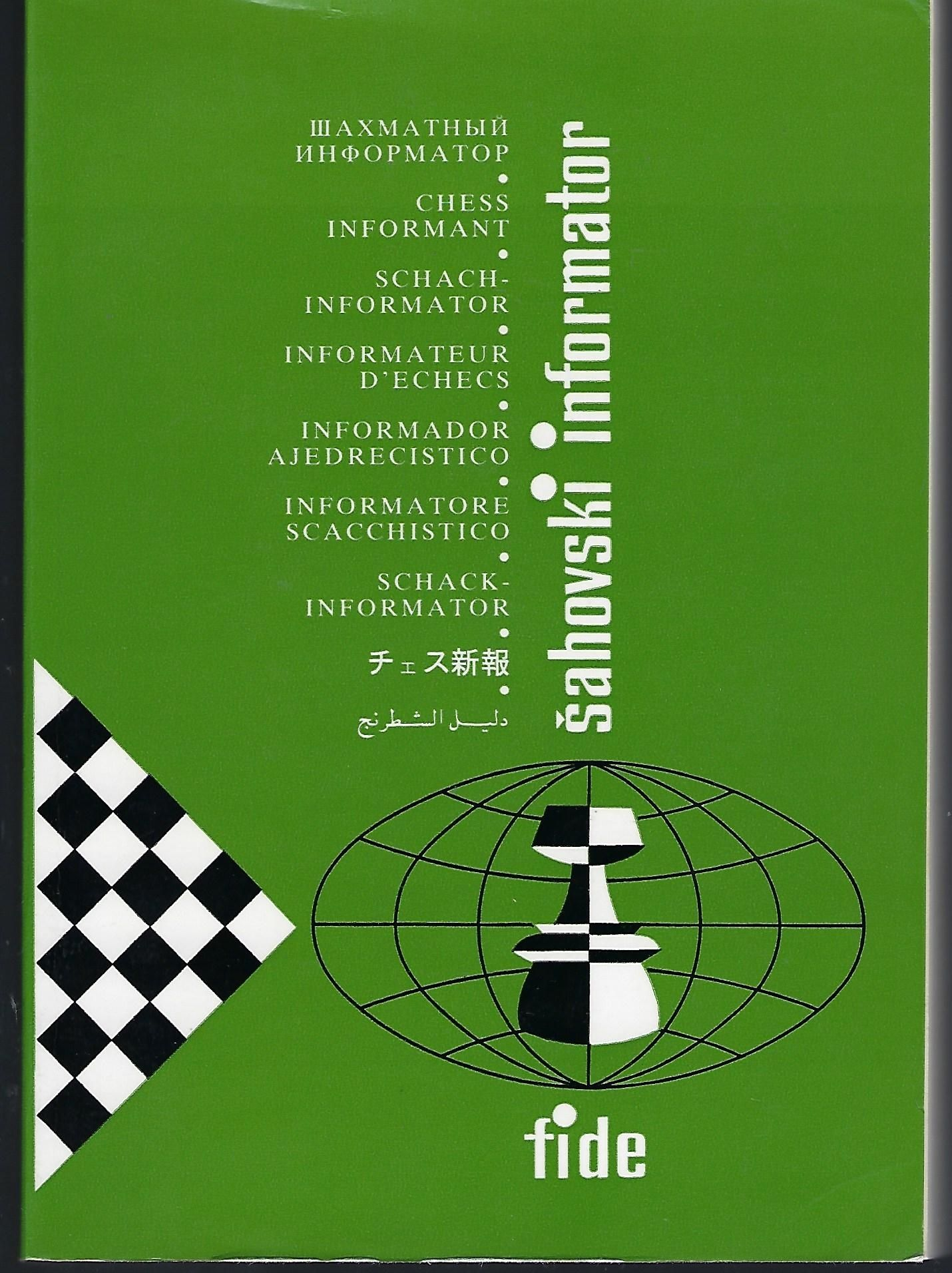 Sahovski Informator 48 Vii Xii 1989 Chess Informant Schach