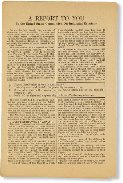 Everett, WA: Socialist Party of Washington, . Ephemera. Edition and printing not stated. 4-pp leafle...