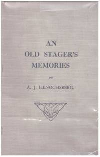 image of AN OLD STAGER'S MEMORIES