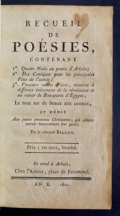 Recueil De Poésies...Le tous sur de...