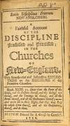 View Image 2 of 2 for Ratio disciplinae fratrum Nov-Anglorum. A faithful account of the discipline professed and practiced... Inventory #54507