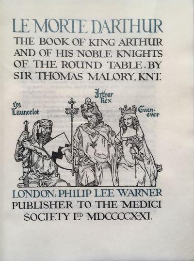 Le Morte Darthur: The Book of King...
