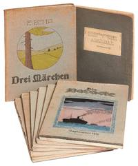 A Collection of Extraordinary Material Printed by German Prisoners at the Bando POW Camp in Japan during World War I, consisting of: 1. Kriegsgefangenenlager Bando Adressbuch (a camp directory); 2. Drei Märchen (a children's book); 3. Die Baracke (six monthly newspaper issues)