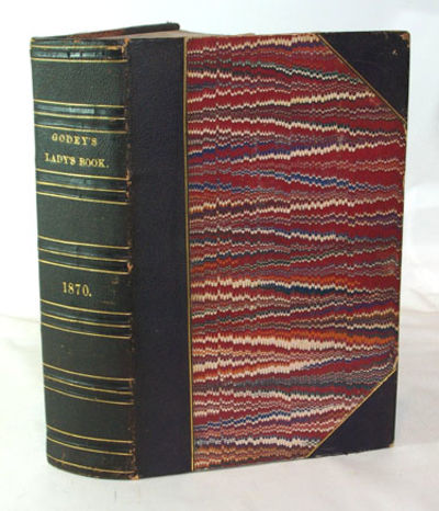 Philadelphia: Louis A. Godey, 1871. First Edition. Very good+ in 1/2 black, pebbled leather and marb...