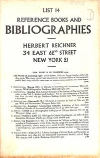 List. 14/c.1950 : reference books and bibliographies.