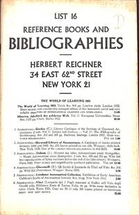 List. 16/c.1952 : Reference books and bibliography.