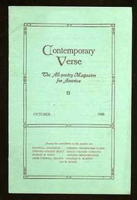 image of Contemporary Verse: October 1920