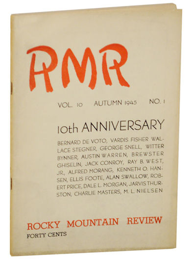 Salt Lake City, UT: Rocky Mountain Review, 1945. First edition. Softcover. The Tenth Anniversary iss...