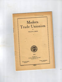 image of Modern Trade Unionism; An Address Before the Harvard Union