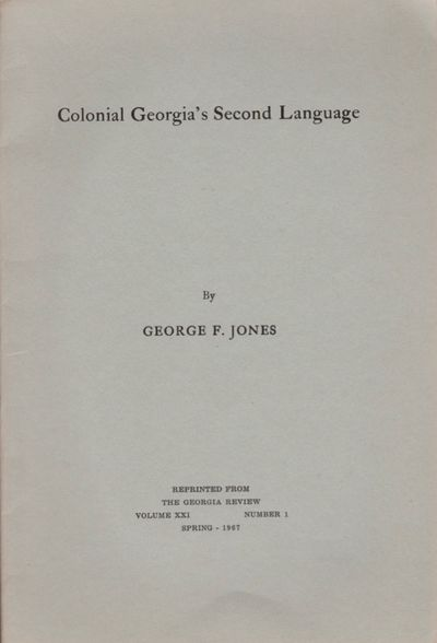 : Georgia Review, 1967. Reprint. Wraps. Very good +. Stapled wraps. pages 87-100. Gray wraps with ti...