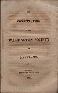 The Constitution of the Washington Society of Maryland