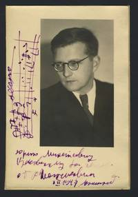 Signed Photograph with Autograph Musical Quotation of the Piano Trio No. 2 in E minor, Op. 67