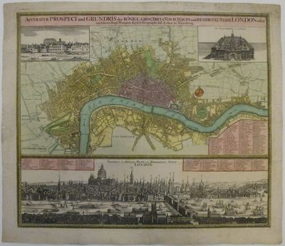 Nuremburg: Homann, Johann Baptist. unbound. Map. Copper plate engraving with original hand coloring....