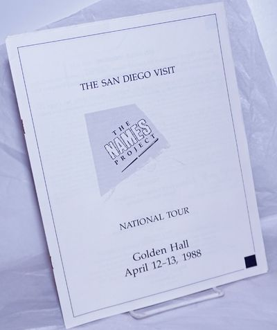 San Diego: The San Diego Committee and the NAMES Project, 1988. includes covers, 8.5x11 inches, two ...