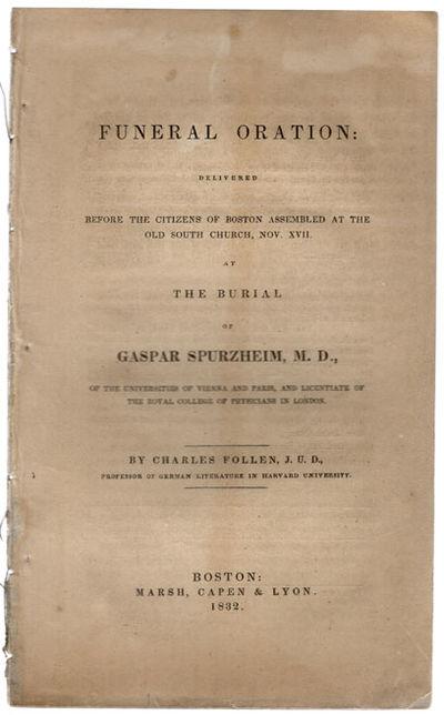 Boston: Marsh, Capen & Lyon, 1832. 8vo (21.7 cm, 8.5