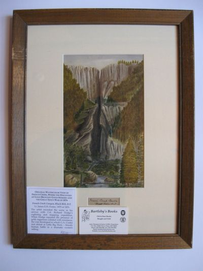 Original watercolor, 9 1/2 x 5 3/4 inches, title, as above, written below the image, inscribed on th...