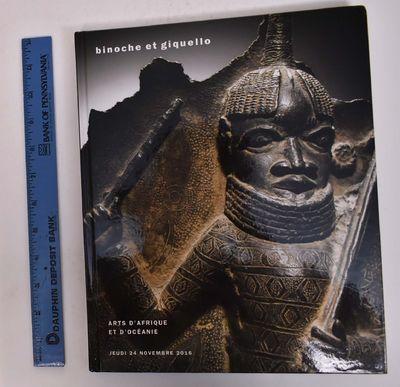 Paris: Binoche et Giquello / Drouot, Paris, 2016. Hardcover. VG-. Bumped corners of covers. Clean an...