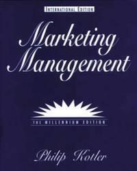 Marketing Management: Millennium Edition: International Edition (International Students)