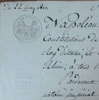 Napoleon Par La Grace De Dieu, Signed, government/official paper